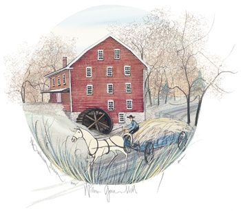 "P Buckley Moss ""Willow Grove Grist Mill"""