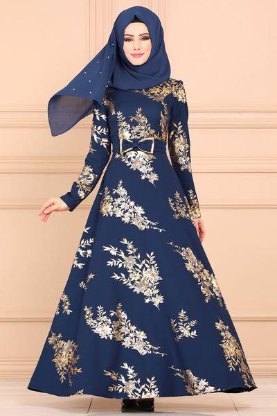 Modaselvim Elbise Gold Varakli Elbise Asm2140 Indigo Moda Stilleri The Dress Afrika Modasi