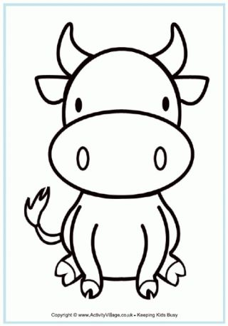 Ox Colouring Page