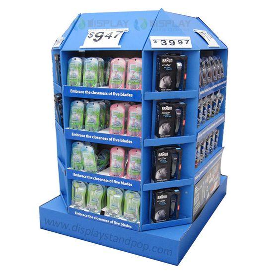 Large POS Displays, Cardboard Point of Sale Displays for Shaver Promotion