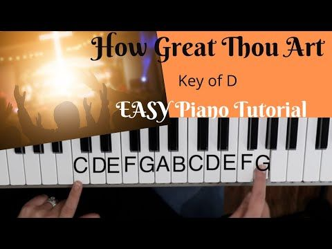 How Great Thou Art Key Of D Easy Piano Tutorial Youtube Piano Tutorial Piano Music Easy Easy Piano