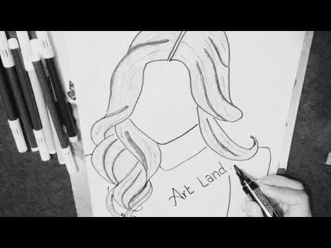 كيفية رسم شعر فتاه سهل وسريع How To Draw Girl Hair Style Youtube Girl Drawing Drawings My Arts