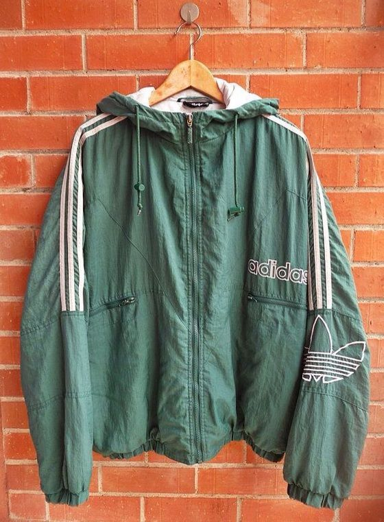 Grüne Retro Adidas Jacke