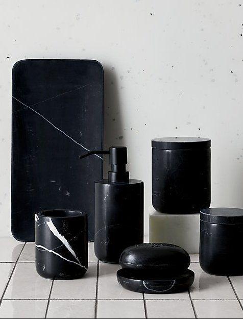 Nexus Black Marble Bath Accessories Cb2 Marble Bathroom Accessories Marble Bath Modern Bathroom Accessories