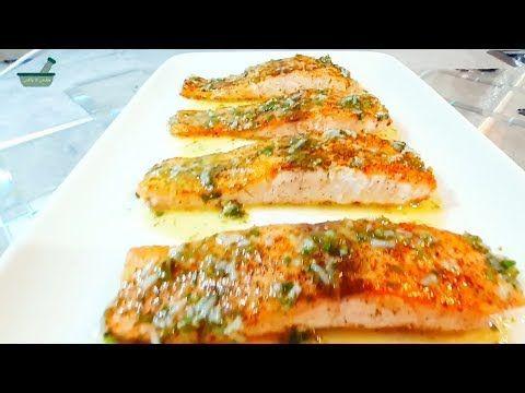 طريقة ألمانية احترافية لعمل السمك اللاكس أو سمك السلمون بالمقلاة و بالفرن Lachs Fielet Youtube Food Zucchini Vegetables