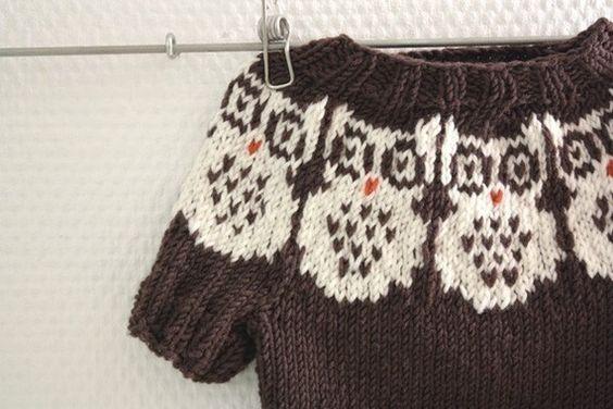 Knitting pattern baby-room