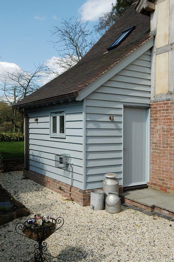 Colour border oak exterior house improvements for Porch extension