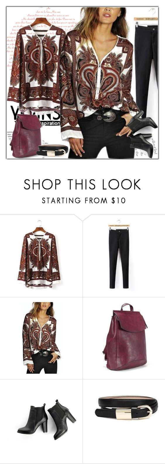 """YOINS.COM"" by ilona-828 ❤ liked on Polyvore featuring MANGO and vintage"
