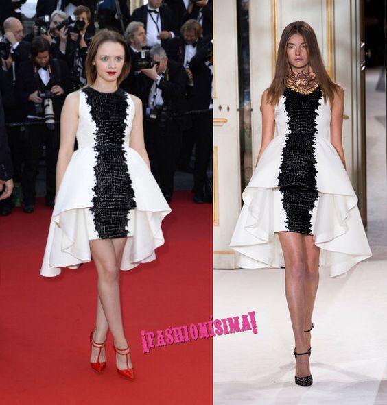 La actriz francesa Sara Forestier estrena la tercera jornada de alfombra roja en el Festival de Cannes vestida de Giambattista Valli