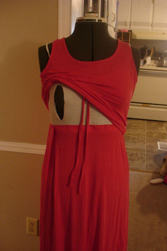 Maxi dress re-do for nursing mommies