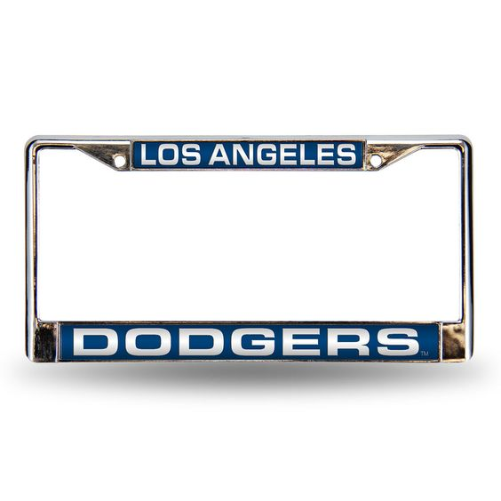 los angeles dodgers license plate chrome frame los angeles dodgers dodgers and license plates