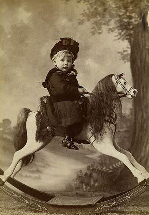 vintage rocking horse: