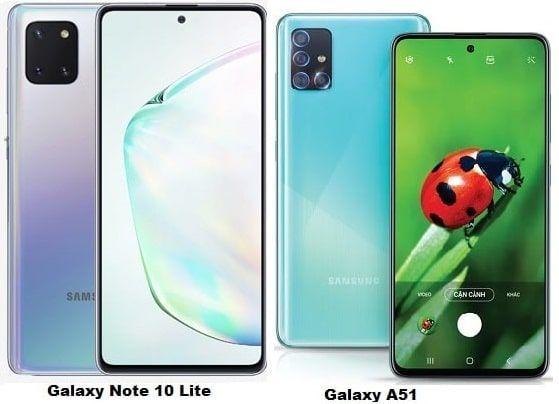 Compare Samsung Galaxy Note 10 Lite Vs Samsung Galaxy A51 Samsung Galaxy Note Samsung Galaxy Galaxy Note 10