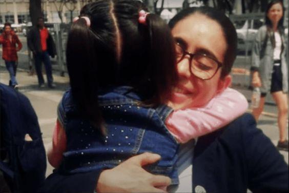 Sofía y la abogada Alehlí Ordóñez