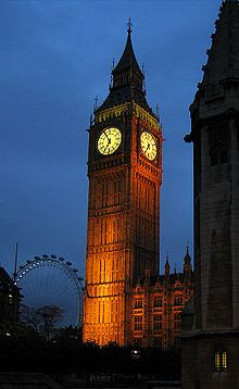 Big Ben, in London.