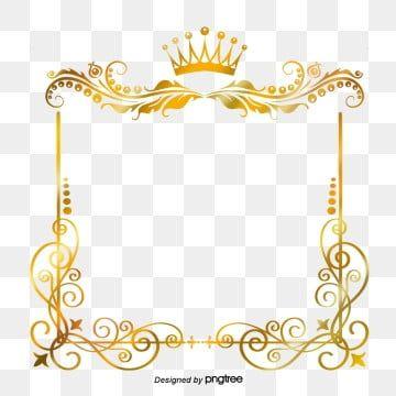 Zolotoj Krug Dizajn Ramki Pogranichnyj Klipart Zoloto Sverkanie Png I Vektor Png Dlya Besplatnoj Zagruzki Gold Clipart Gold Frame Crown Frames
