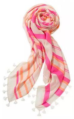Orange and light pink scarf