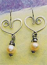 Pearls and Wire: Wire Jewelry, Wire Earrings, Jewelry Earringstyle, Pearl Earrings, Jewelry Wire, Heart Shape, Heart Earrings, Crafts Jewelry, Jewelry Ideas