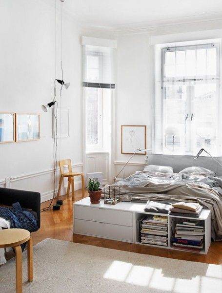 The end inspiration and foot of bed on pinterest for Bedroom storage inspiration