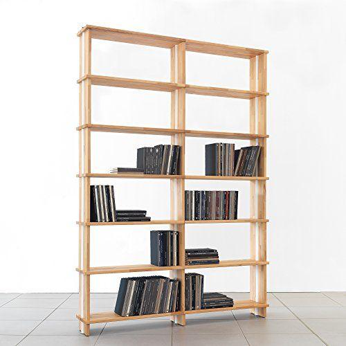 Bookshelves Nikka Woody Modular Wooden Bookcase Solid Wood Shelves