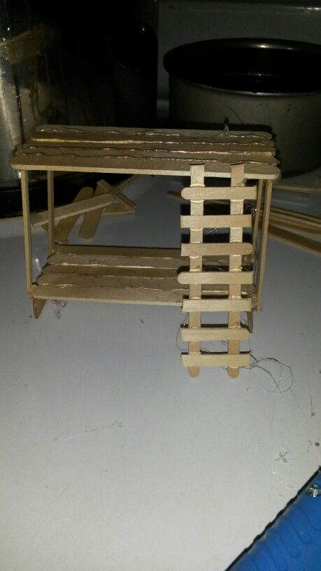 Bunk Bed S Made From Popsicle Sticks Dollhouse