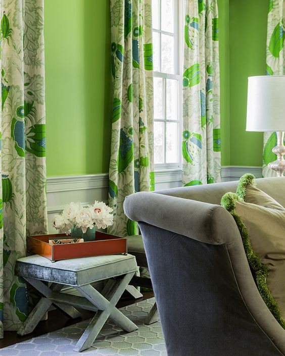 Green Curtains apple green curtains : What Color Curtains Go With Green Walls - Curtains Design Gallery