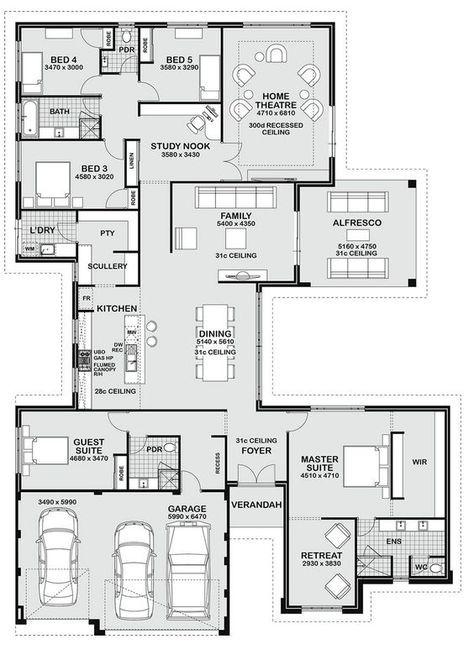 House Plans With In Law Suite Families Denah Rumah Denah Lantai Rumah House Blueprints