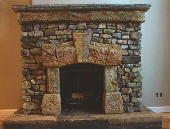 Floor Level Fireplace Stone With Black Slate Google Search Neat Fireplaces Pinterest