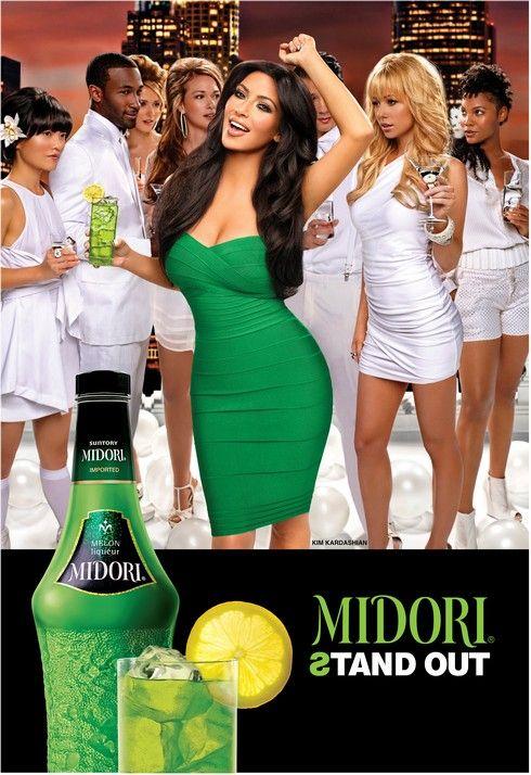 Kim Kardashian for Midori liqueur