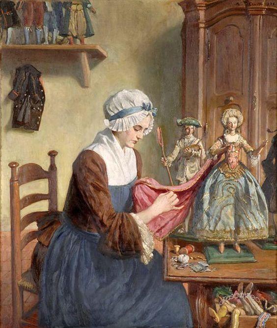 Angelo Comte de Courten (1848–1925) ~ A Doll Maker: