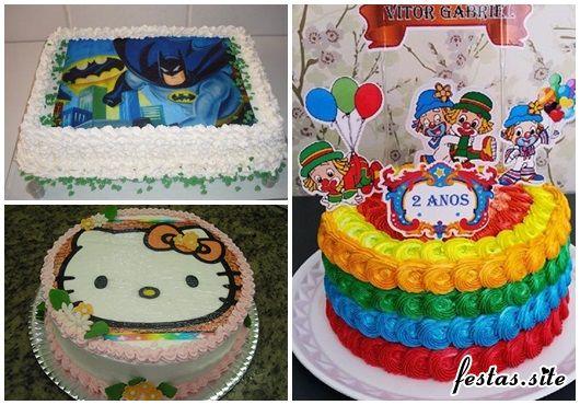 Bolo De Aniversario Simples Decorado Com Papel De Arroz Batman E