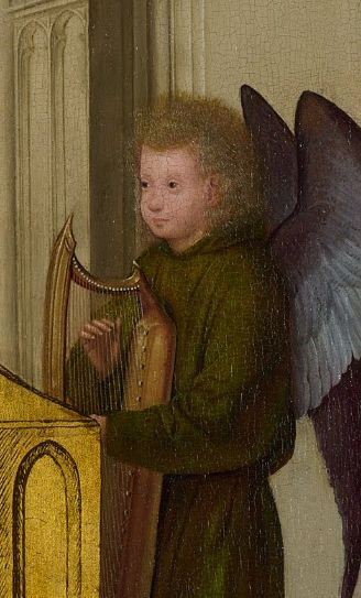 The Virgin and Child Enthroned with Four Angels (detail), Quentin Massys, ca. 1495: