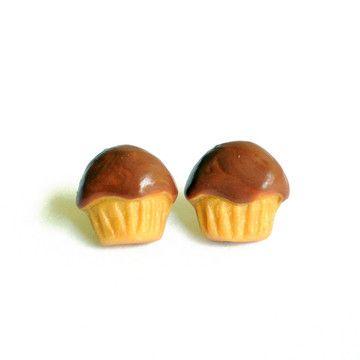 Chocolate Cupcake Earrings