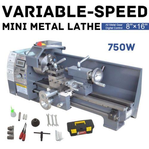Variable Speed Mini Metal Lathe Bench Top Digital Hobby Metal