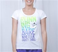 Running Bare BFF Scoop Neck Tee White - Running Bare Tees | Only $32.95 - Ships within 24 hours - FREE shipping over $75 + Earn Velocity Points - onsport.com.au, Australia's best online sports store
