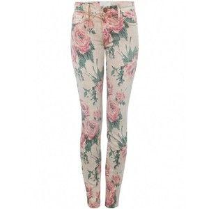 Current/Elliott Jeans | Floral Stiletto Skinny Ankle Crop Jeans