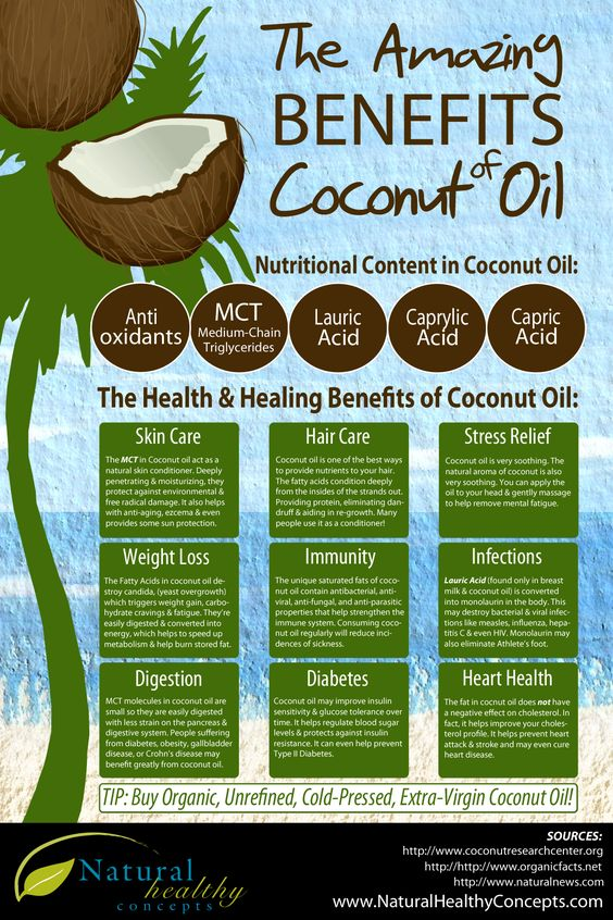 The Amazing Benefits Of #Coconut Oil #Infographic