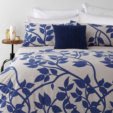 In2linen Madison Blue Quilt Cover Set 300 Thread Count 100 Cotton From Blue Quilt Covers Quilt Cover Quilt Cover Sets
