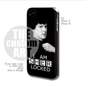 I Am Sherlocked - For iPhone 4 / 4s | TheCustomArt - Accessories on ArtFire