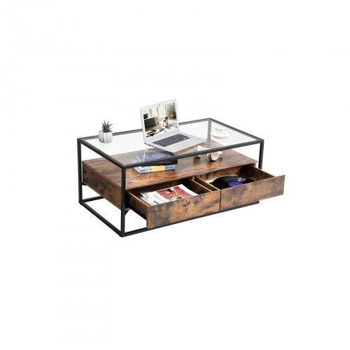 Glass Top Coffee Table En 2020 Meuble Bois Meuble Bois