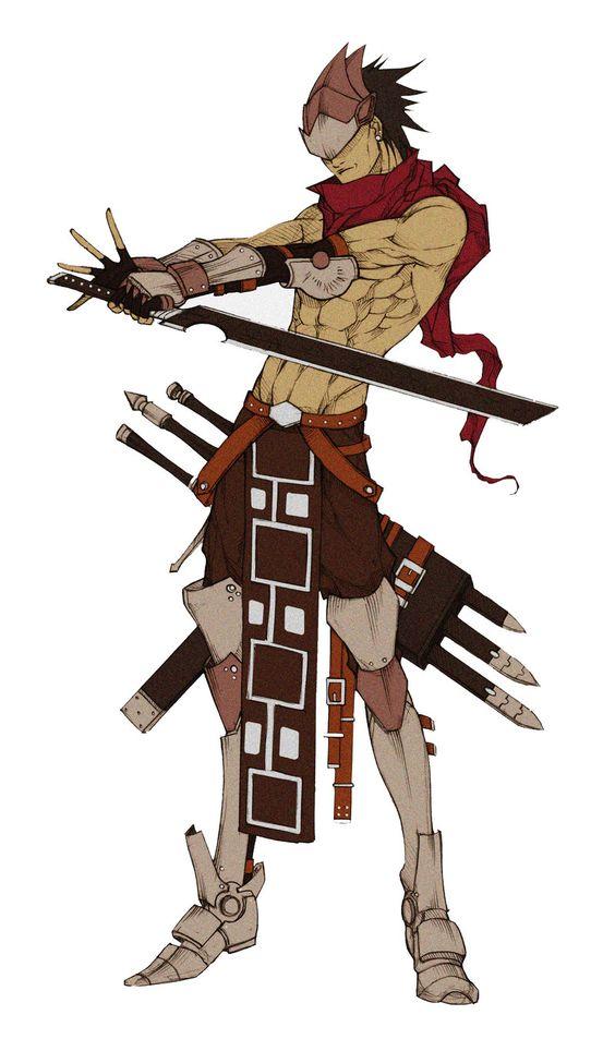 Anime Characters Using Sword : Oc sword master by mizaeltengu viantart on