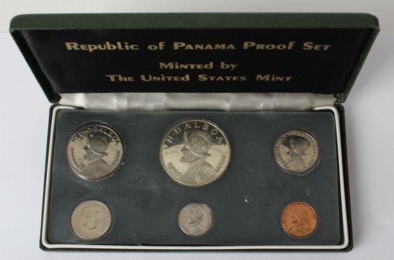 1973 Republic of Panama Proof Set 6 Coins OGP | eBay