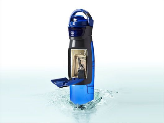 Perfect for workouts when you just want to carry your water bottle and the necessities l No-Spill Kangaroo Bottle