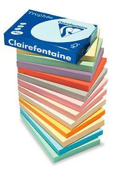 Clairefontaine Trophee Farbiges Papier 80 120 160 210g/m² A4 Pastell Intenisv Des Papier hatten wir bei Vroni...
