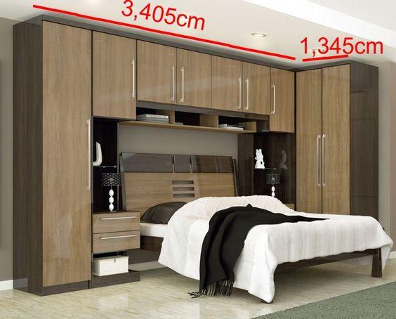 Armario Planejado Quarto Rj : Guarda roupa com cama quarto de casal