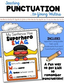 A fun way to teach (and get kids to remember) punctuation when writing! Perfect for kindergarten and first grade. $