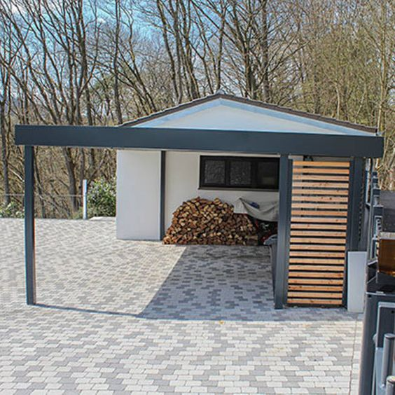 garage mit carport carports aus stahl design carport. Black Bedroom Furniture Sets. Home Design Ideas