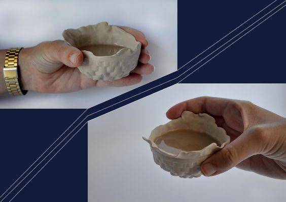 Tslil Sarah Sadras design   fimo cup, made with Vacuum Forming, for even soft drinks and warm. for more----> https://www.facebook.com/tslil.sarah.sadras/?fref=ts
