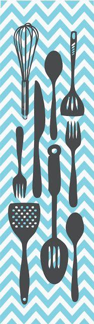 Tays Rocha: Printables - Ilustrações para cozinha: