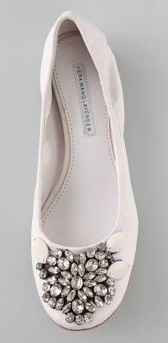 #jeweled ballet flats from Vera Wang Lavender Label. pretty